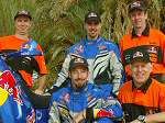 Team photo in Tunisia Africa while getting ready for the 2006 Dakar Rally. (FREE Wallpaper)