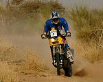 2007 Dakar race photo of Chris Blais front view
