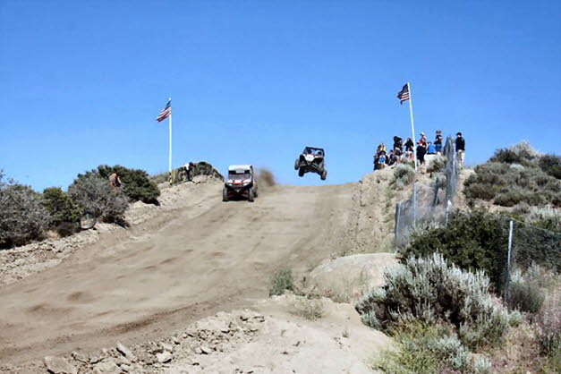 Blais in RZR jump at WORCS UTV Race
