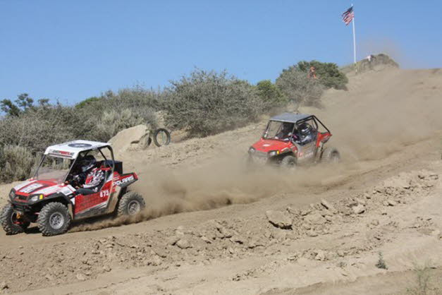 Chris Blais behind leader Mark Holz WORCS UTV Race