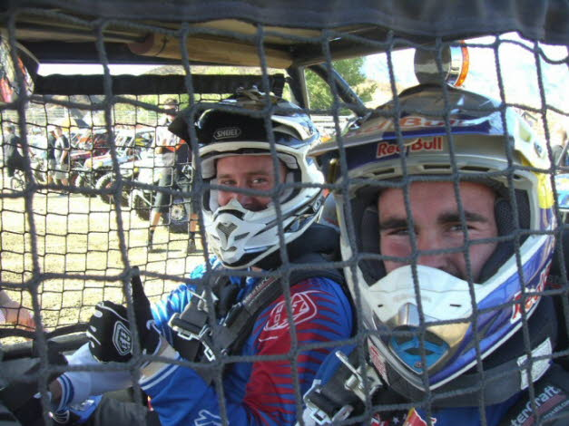 Chris and Nick at Glen Helen WORCS UTV 2010 !st place