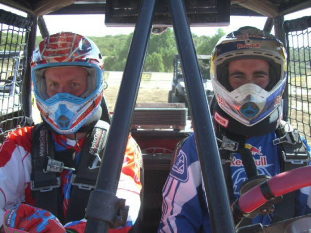 Chris Blais and Robin Fawcett at WORCS UTV Race in Anza 2010