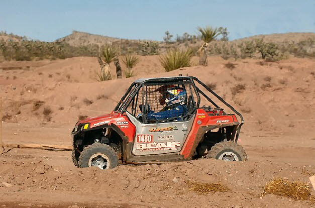 Chris moving out in his Rzr at the 2009 Searchlight GP