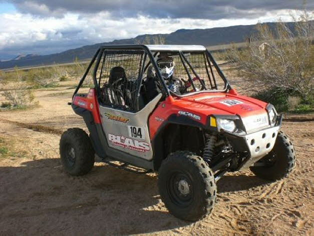 Chris in his Rzr at National Hare and Hound 2009